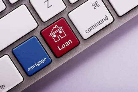 Mortgage Loan on computer keyboard